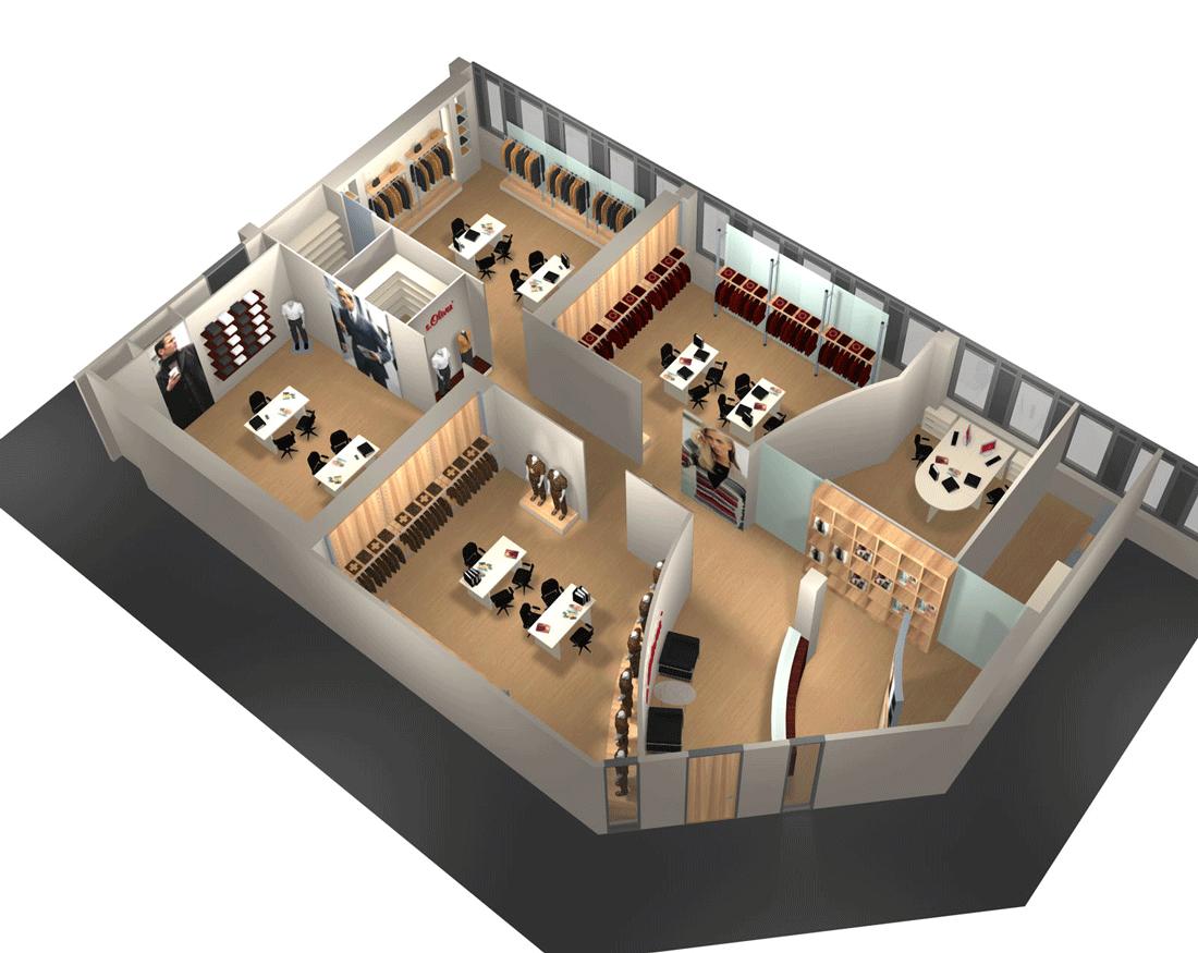 Ladenbau S.Oliver 3D
